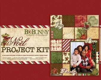 Bo Bunny Noel Canvas Frame Kit