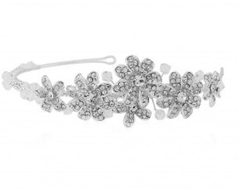 Nellie Crystal Luxe Headband - (Silver)
