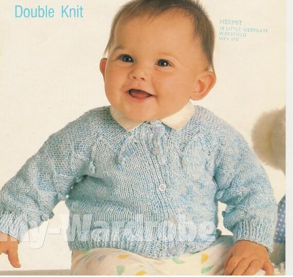 knit baby jacket vintage pattern knitting pullover matinee. Black Bedroom Furniture Sets. Home Design Ideas
