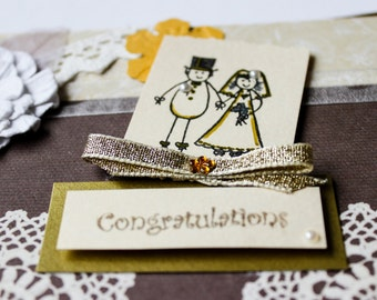 Handmade WEDDING CONGRATULATIONS Card