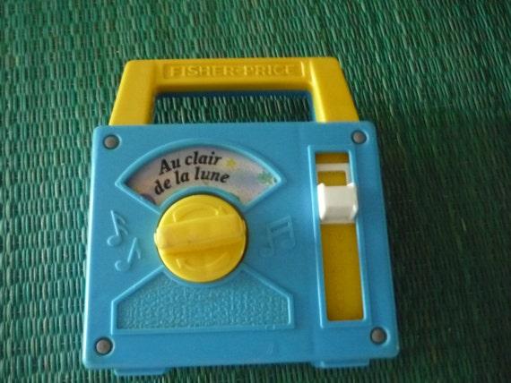 1990s Music Toys : French vintage toy fisher price au clair de la lune