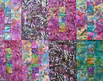 Secret Garden Batik Quilt