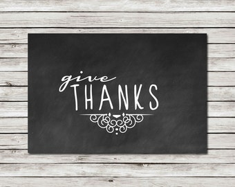 Give Thanks - Wall Art - Printable