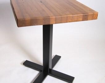 """30"""" square Butcher Block Style Bistro Table"""