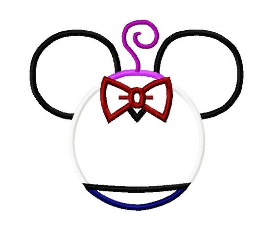 Character Applique Design : Character inspired fright embroidery applique design