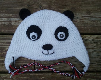 Teen & adult, made to order, Panda hat.