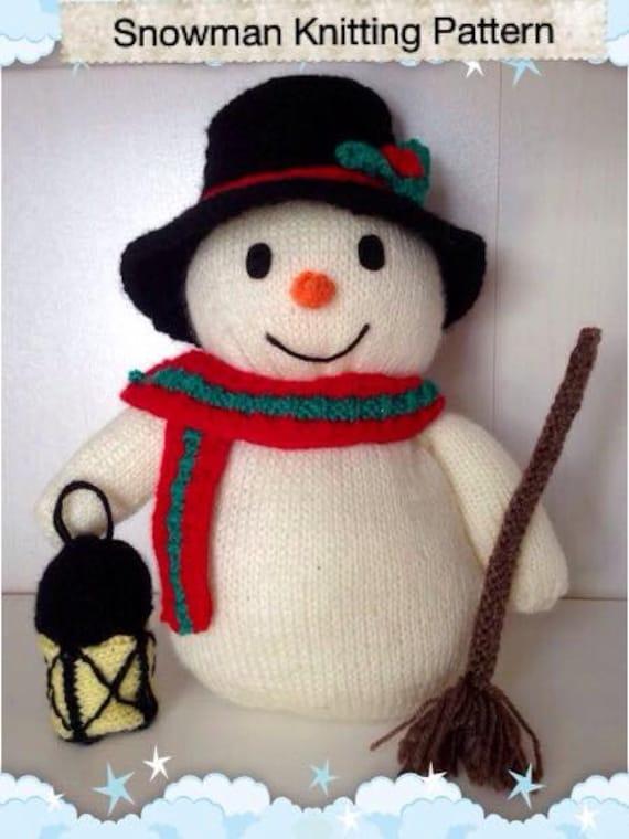 Snowman Knitting Pattern. Christmas Decorotion. Xmas Knitting