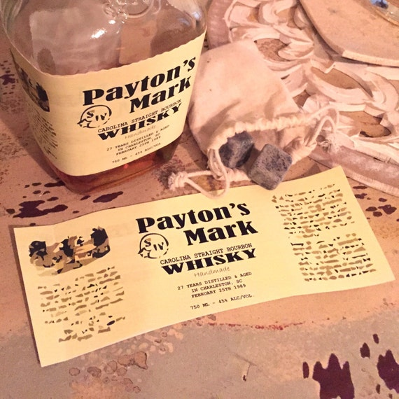 Custom Whisky Label Labels By FifthDown On Etsy