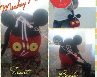 Crochet Mickey purse