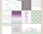 Medic [Project Life & Pocket Journal Cards - Hospital, Doctor, Medicine, Prescription, Green, Purple, Injury, Break, Fracture, Grey]