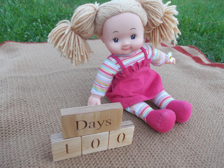 Baby leeftijd blokken douche babygift houten Baby door WoodpeckerLG