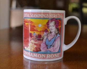Vintage 1983 Celestial Seasonings Cinnamon Rose Tea Mug
