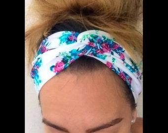 Floral Print Turband Headband