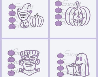PYO Halloween Cookie Stencils (4 separate stencils)