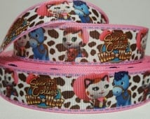 7/8 in. Sheriff Callie Grosgrain Ribbon/Pink Brown Blue/Character Ribbon/HIGH QUALITY