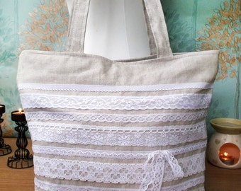 Country Chic Recessed Zipper Bag