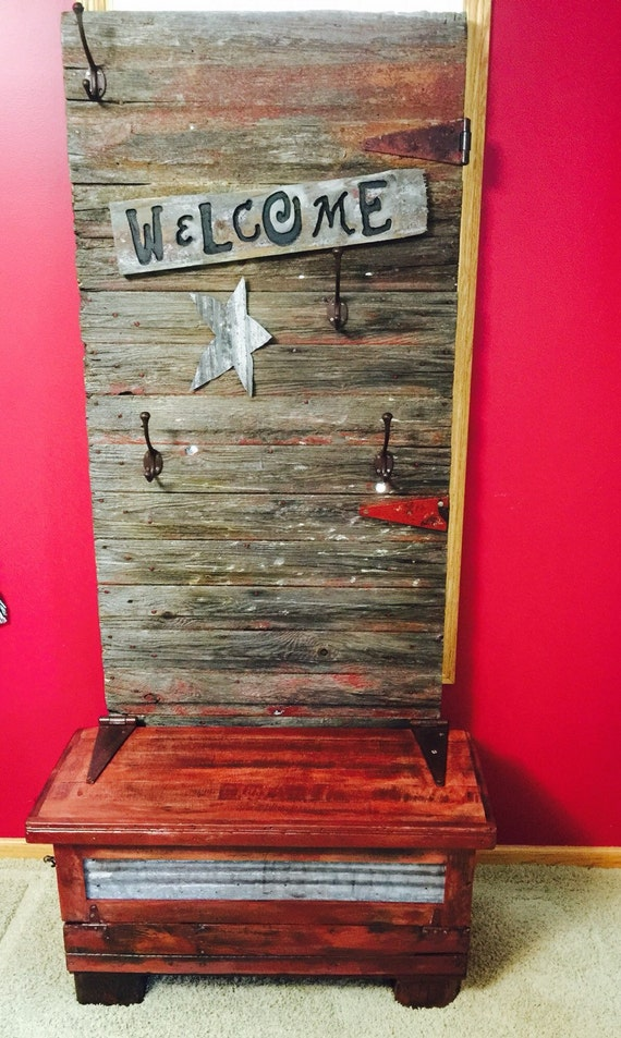 Beautiful barn door and chicken coop barn by logslightsbarnwood - Adding character to your hallway with a hall tree ...