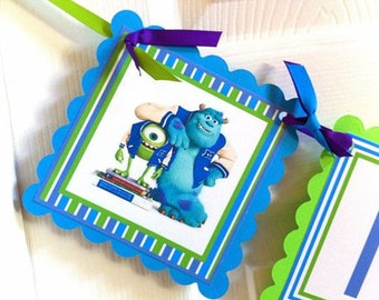 Monsters Inc. Happy Birthday Banner