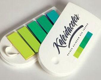 Kaleidacolor Ink Pad, Fresh Greens Tones, Rubber Stamp Ink, Raised Rainbow Dye Inkpad, Scrapbooking Supply, Tsukineko