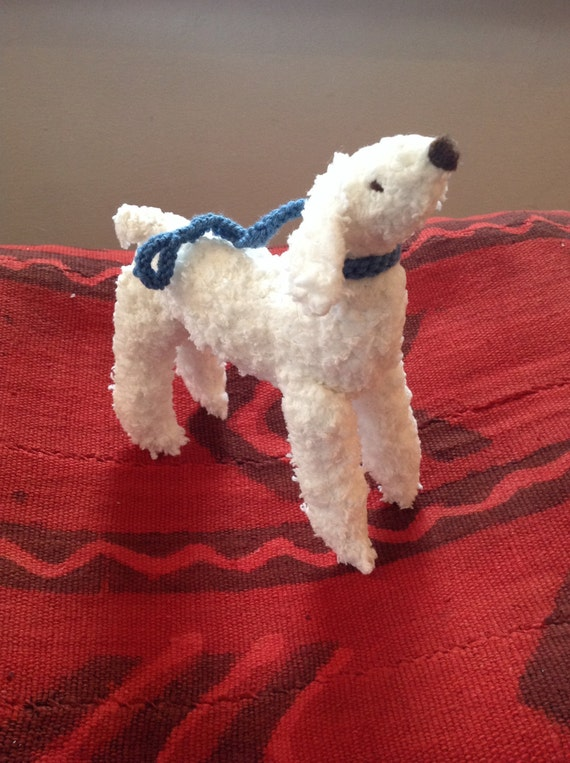 Hand knitted Poodle dog