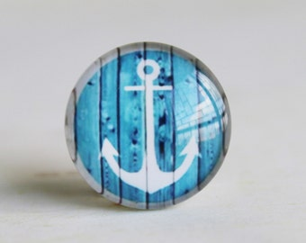 Anchor Handmade Photo Glass Cabochon 10mm 12mm 14mm 15mm 16mm 18mm 20mm 25mm 30mm-513-7