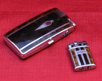 Vintage Ronson Pal Cigarette Case with Lighter and Small Ronson Pocket Lighter        00398