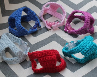 Teeny Tiny Handmade Cotton Crochet Dog/Puppy/Kitten First Harness, 1 - 2 lb 6 to 10 Inch Girth for Chihuahua Yorkie Maltese Toy Teacup Puppy