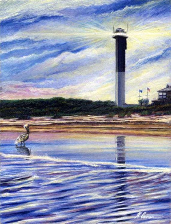 Sullivan's Island Lighthouse by Kevin Curran, Sullivan's Island, Charleston, South Carolina
