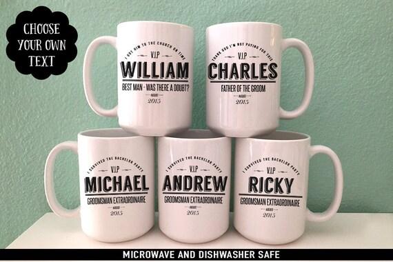 Groomsmen Gift Coffee Mug Set - Perfect Gift for Groom's Party - Personalized Coffee Mug