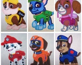 Paw Patrol Set Applique Machine Embroidery Design Patterns-INSTANT DOWNLOAD
