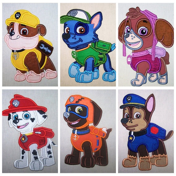 Dog Squad Set Applique Machine Embroidery Design By LovesApplique