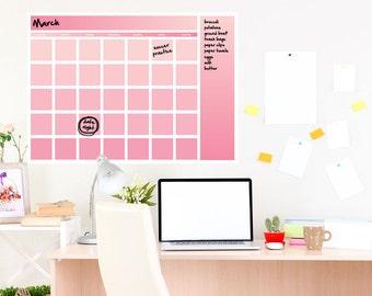 "Dry erase wall calendar, 20x24"""