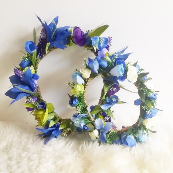I Love Bambino Baby Blue Flower Crown By Tobeiki On Etsy