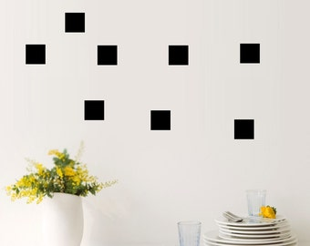Square wall decals, Square decal, Square wall sticker, nursery wall decal, wall decals, wall stickers, vinyl geometric shapes stickers