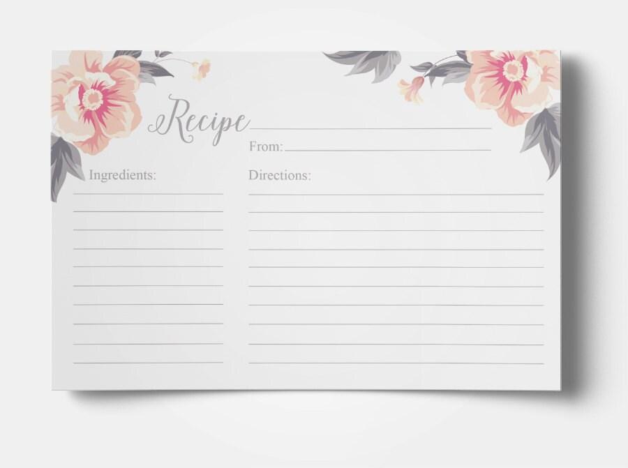 Receta para imprimir tarjeta 4 x 6 receta tarjeta cocina - Plantillas para reposteria ...