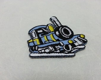 Locomotive Iron on patch (S) 4.9 x 4.4 cm - Locomotive Applique Embroidered Iron on Patch # 2