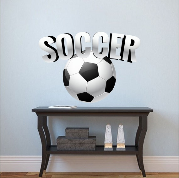 Creative Soccer Wall Decal by PrimeDecal