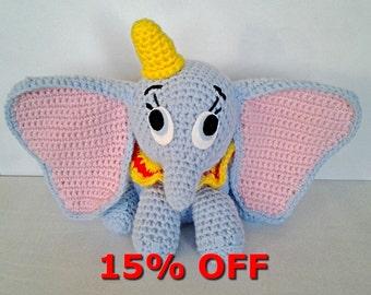 In Dumbo amigurumi plush
