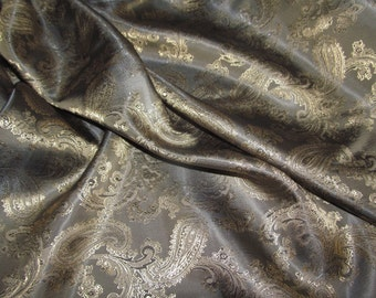 Slate Paisley Dress Lining Fabric  Quality Jacket & Dress Lining Material 150cm Wide