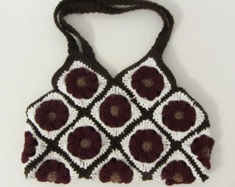 Crochet Squares Flower Bag/Made to Order