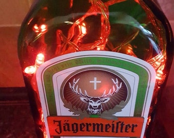 Upcycled Jagermeister bottle by JCLamps