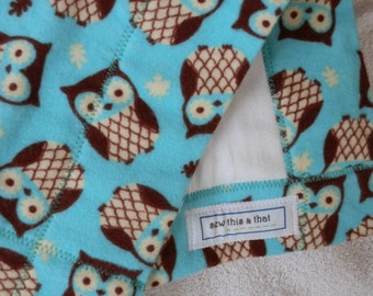 Owls and Leaves Burp Cloths