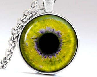 Yellow Eye Pendant Honey eye Necklace LG126