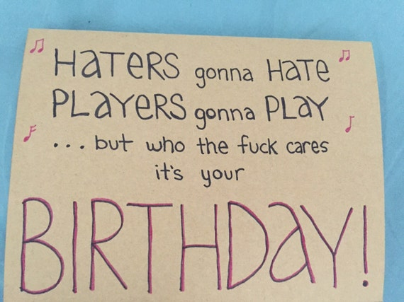 gonna hate taylor swift birthday card, Birthday card