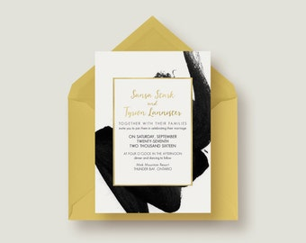 Stylish Chic Wedding Invitation Suite 1.1