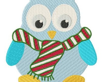 Christmas Hoots Machine Embroidery Owl Designs