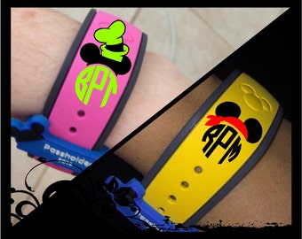 DIY Personalized Monograms for Your Magic Bands; Pirate Bandana or Silly Hat
