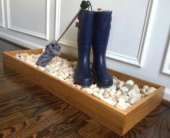 oak wood boot rack shoe storage rack boot storage by simplerhome. Black Bedroom Furniture Sets. Home Design Ideas