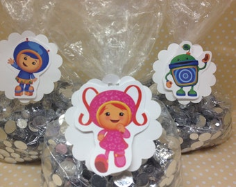 Team Umizoomi Party Candy or Favor Bags With Tags - Set of 10