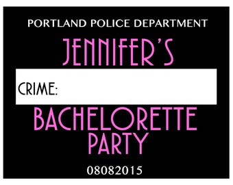 Bachelorette Mug Shot Digital Download